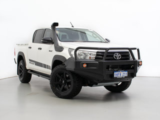 2018 Toyota Hilux GUN125R MY17 Workmate (4x4) White 6 Speed Manual Dual Cab Utility.