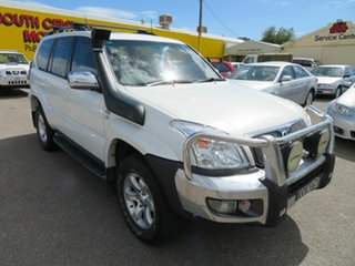 2007 Toyota Landcruiser Prado KDJ120R 07 Upgrade Grande (4x4) White 5 Speed Automatic Wagon.