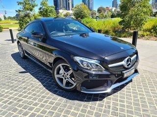 2018 Mercedes-Benz C-Class C205 808MY C200 9G-Tronic Black 9 Speed Sports Automatic Coupe.
