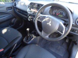 2015 Mitsubishi Mirage LA MY15 ES White 5 Speed Manual Sedan