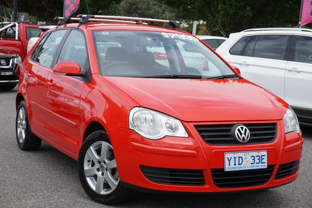 Used Volkswagen Polo 9N MY2009 Pacific TDI Phillip, 2009 Volkswagen Polo 9N MY2009 Pacific TDI Flash Red 5 Speed Manual Hatchback