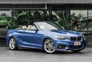 2016 BMW 2 Series F23 220i M Sport Blue 8 Speed Sports Automatic Convertible.