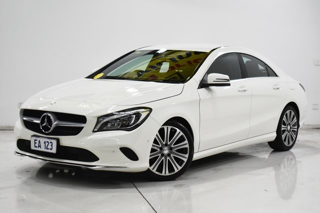 Used Mercedes-Benz CLA220 D 117 MY17 Brooklyn, 2016 Mercedes-Benz CLA220 D 117 MY17 White 7 Speed Auto Dual Clutch Coupe