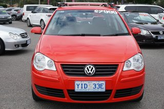 2009 Volkswagen Polo 9N MY2009 Pacific TDI Flash Red 5 Speed Manual Hatchback.