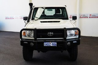 2017 Toyota Landcruiser LC70 VDJ79R MY17 Workmate (4x4) French Vanilla 5 Speed Manual Cab Chassis.