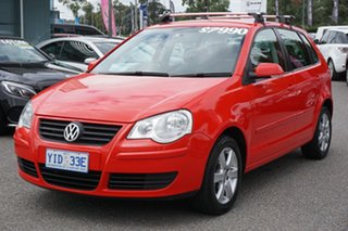 2009 Volkswagen Polo 9N MY2009 Pacific TDI Flash Red 5 Speed Manual Hatchback