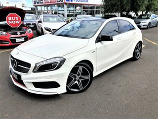 2014 Mercedes-Benz A-Class W176 A250 D-CT Sport White 7 Speed Sports Automatic Dual Clutch Hatchback.