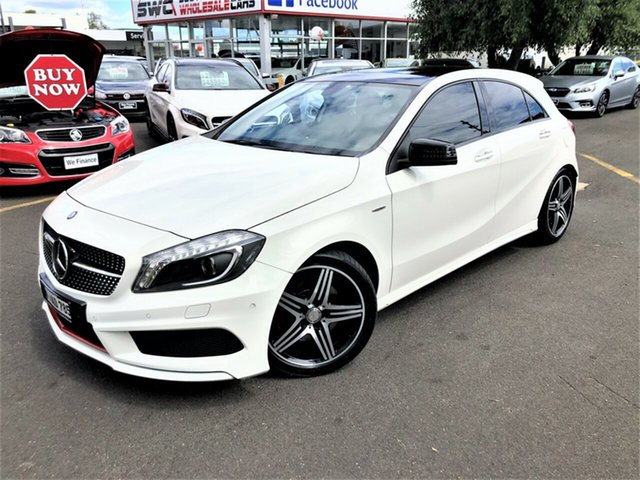 Used Mercedes-Benz A-Class W176 A250 D-CT Sport Seaford, 2014 Mercedes-Benz A-Class W176 A250 D-CT Sport White 7 Speed Sports Automatic Dual Clutch Hatchback