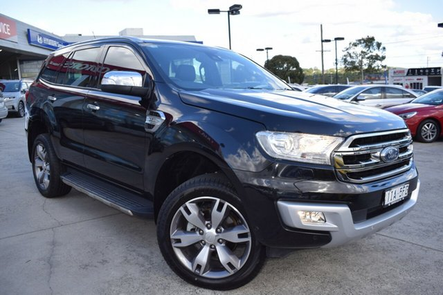 Used Ford Everest UA Titanium Ferntree Gully, 2016 Ford Everest UA Titanium Black 6 Speed Sports Automatic SUV