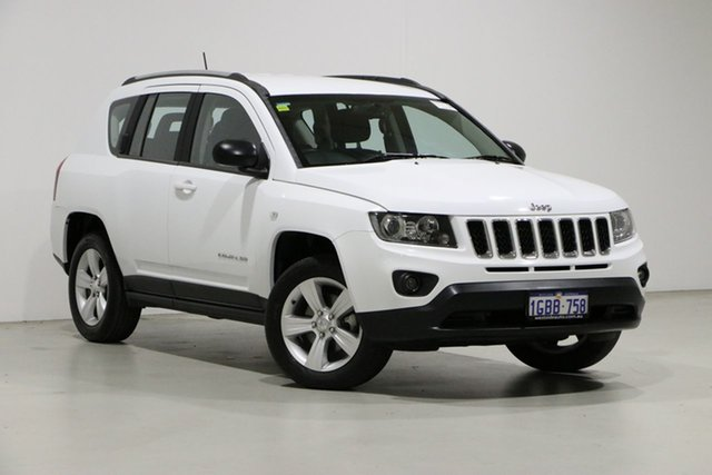 Used Jeep Compass MK MY16 Sport (4x2) Bentley, 2016 Jeep Compass MK MY16 Sport (4x2) White 6 Speed Automatic Wagon
