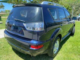 2010 Mitsubishi Outlander ZH MY10 LS Blue 6 Speed Constant Variable Wagon