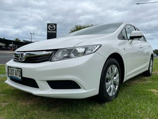 2012 Honda Civic 9th Gen Ser II VTi White 5 Speed Sports Automatic Sedan.