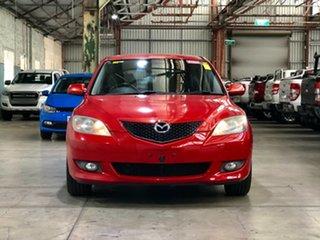 2005 Mazda 3 BK10F1 Maxx Sport Red 4 Speed Sports Automatic Hatchback.