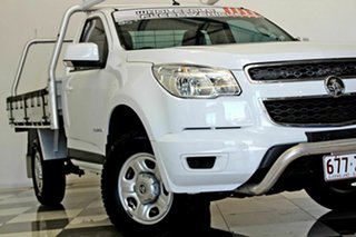 2015 Holden Colorado RG MY15 LS (4x2) White 6 Speed Automatic Cab Chassis.
