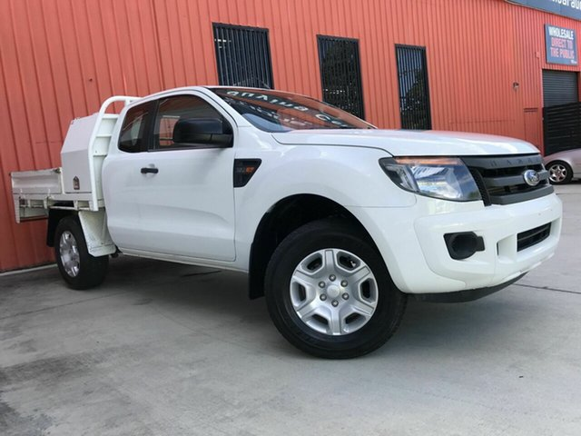 Used Ford Ranger PX XL Molendinar, 2012 Ford Ranger PX XL White 6 Speed Manual Cab Chassis