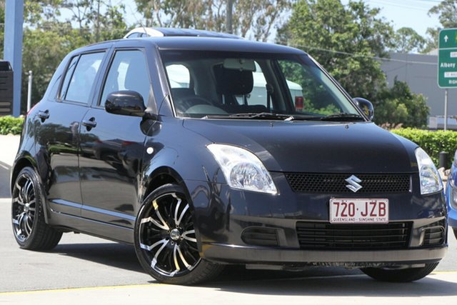 Used Suzuki Swift RS415 Aspley, 2007 Suzuki Swift RS415 Black 4 Speed Automatic Hatchback