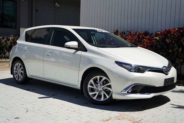 Used Toyota Corolla ZRE182R Ascent Sport S-CVT Cairns, 2017 Toyota Corolla ZRE182R Ascent Sport S-CVT White 7 Speed Constant Variable Hatchback