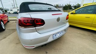 2011 Volkswagen Golf VI MY12 118TSI DSG Silver 7 Speed Sports Automatic Dual Clutch Cabriolet