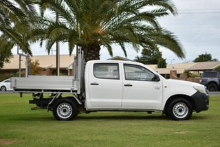 2013 Toyota Hilux TGN16R MY12 Workmate Double Cab 4x2 White 5 Speed Manual Utility
