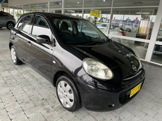 2011 Nissan Micra K13 ST-L Black 4 Speed Automatic Hatchback.