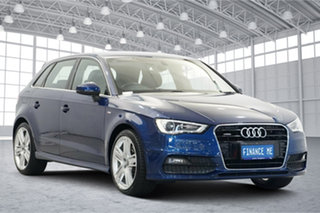 2015 Audi A3 8V MY16 Ambition Sportback S Tronic Quattro Blue 6 Speed Sports Automatic Dual Clutch.