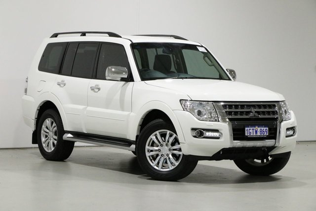 Used Mitsubishi Pajero NX MY19 GLS LWB (4x4) 7 Seat Bentley, 2018 Mitsubishi Pajero NX MY19 GLS LWB (4x4) 7 Seat White 5 Speed Auto Sports Mode Wagon