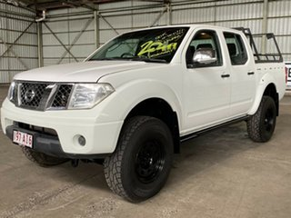 2008 Nissan Navara D40 ST-X White 6 Speed Manual Utility.