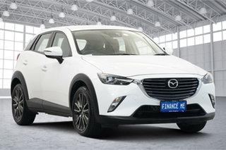 2015 Mazda CX-3 DK4WSA sTouring SKYACTIV-Drive i-ACTIV AWD White 6 Speed Sports Automatic Wagon.
