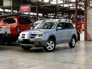 2005 Mitsubishi Outlander ZF XLS Silver 4 Speed Sports Automatic Wagon.