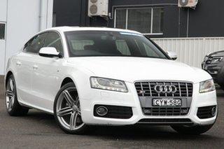 2010 Audi S5 8T MY10 Sportback S Tronic Quattro White 7 Speed Sports Automatic Dual Clutch Hatchback.