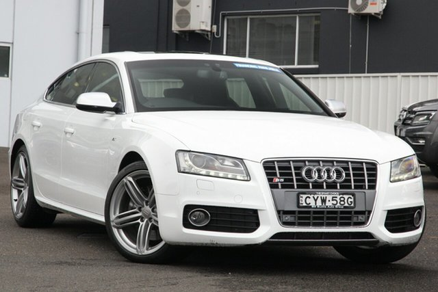 Used Audi S5 8T MY10 Sportback S Tronic Quattro Brookvale, 2010 Audi S5 8T MY10 Sportback S Tronic Quattro White 7 Speed Sports Automatic Dual Clutch Hatchback