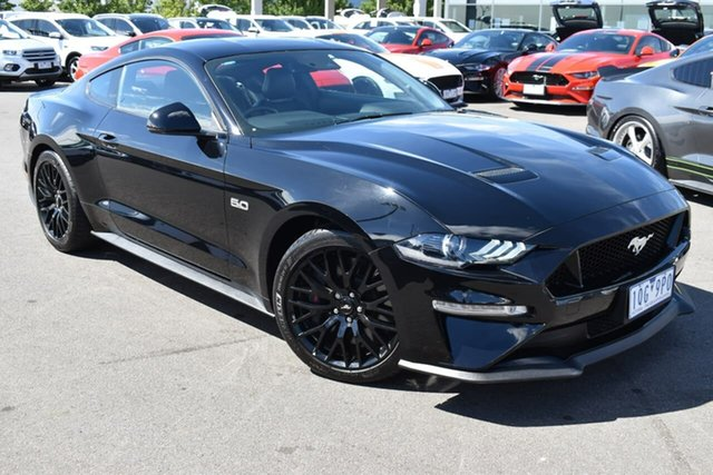 Used Ford Mustang FN 2018MY GT Fastback SelectShift Essendon Fields, 2018 Ford Mustang FN 2018MY GT Fastback SelectShift Black 10 Speed Sports Automatic Fastback
