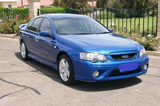 2007 Ford Falcon BF MkII 07 Upgrade XR6 Blue 4 Speed Auto Seq Sportshift Sedan.