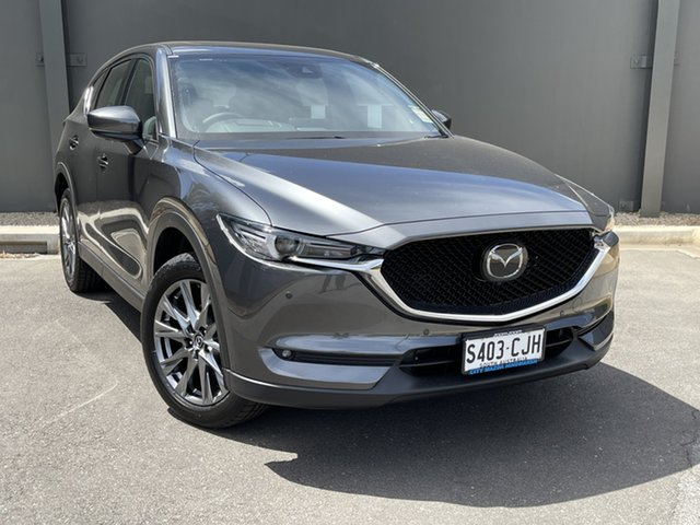 Demo Mazda CX-5 KF4WLA Akera SKYACTIV-Drive i-ACTIV AWD Hindmarsh, 2020 Mazda CX-5 KF4WLA Akera SKYACTIV-Drive i-ACTIV AWD Machine Grey 6 Speed Sports Automatic Wagon