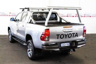 2016 Toyota Hilux GUN126R SR5 (4x4) Silver Sky 6 Speed Automatic Dual Cab Utility.