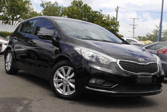 Used Kia Cerato YD MY15 S Premium Mount Gravatt, 2014 Kia Cerato YD MY15 S Premium Black 6 Speed Sports Automatic Hatchback
