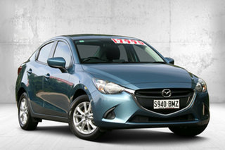 2016 Mazda 2 DL2SAA Maxx SKYACTIV-Drive Gunmetal Blue 6 Speed Sports Automatic Sedan.
