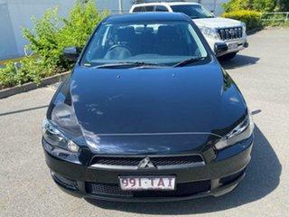 2013 Mitsubishi Lancer CJ MY13 ES Black 6 Speed Constant Variable Sedan.