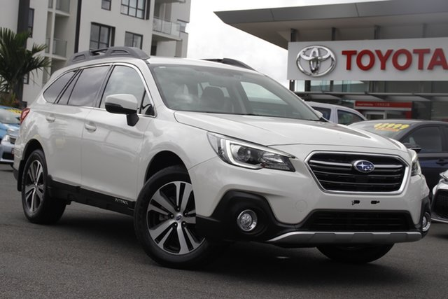 Pre-Owned Subaru Outback B6A MY19 2.5i CVT AWD Upper Mount Gravatt, 2019 Subaru Outback B6A MY19 2.5i CVT AWD Crystal White 7 Speed Constant Variable Wagon