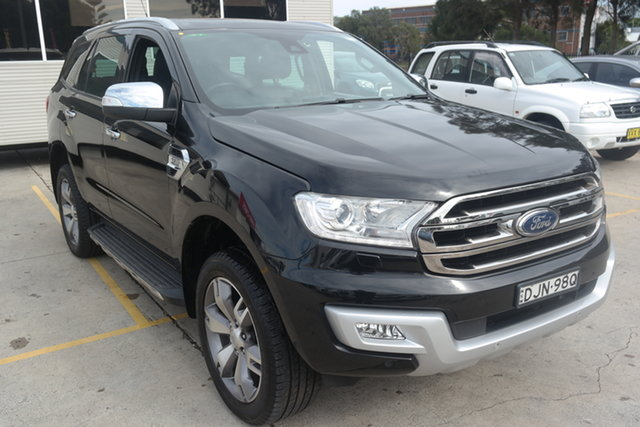 Used Ford Everest UA Titanium Maryville, 2016 Ford Everest UA Titanium Black 6 Speed Sports Automatic SUV