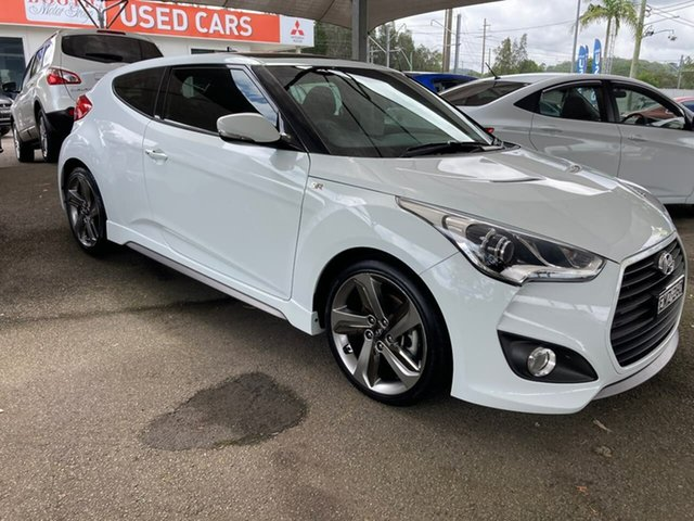 Used Hyundai Veloster FS3 SR Coupe Turbo North Gosford, 2013 Hyundai Veloster FS3 SR Coupe Turbo White 6 Speed Manual Hatchback