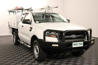 2015 Ford Ranger PX MkII XL White 6 speed Manual Cab Chassis.