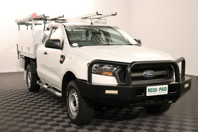 Used Ford Ranger PX MkII XL Acacia Ridge, 2015 Ford Ranger PX MkII XL White 6 speed Manual Cab Chassis