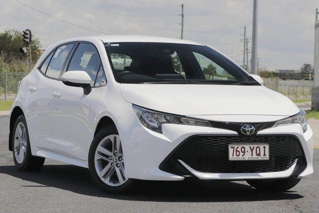 Used Toyota Corolla Mzea12R Ascent Sport Eagle Farm, 2018 Toyota Corolla Mzea12R Ascent Sport White Continuous Variable Hatchback