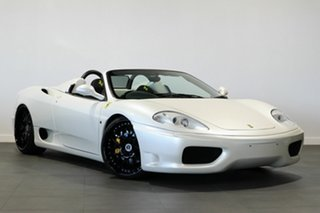 2002 Ferrari 360 Spider F1 Pearl White 6 Speed Seq Manual Auto-Clutch Convertible.
