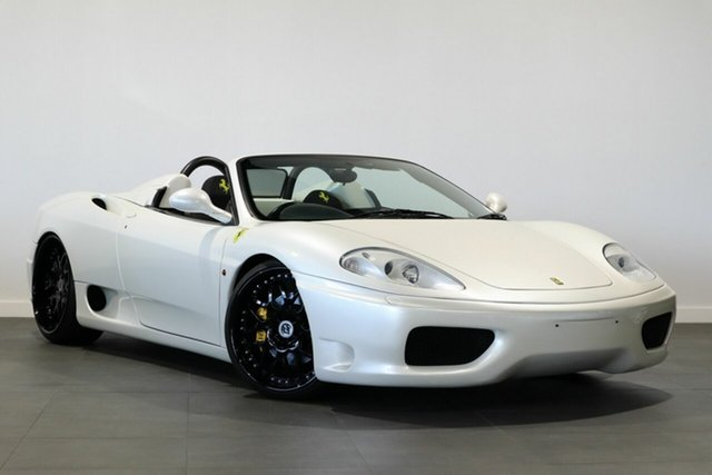 Used Ferrari 360 Spider F1 Bayswater, 2002 Ferrari 360 Spider F1 Pearl White 6 Speed Seq Manual Auto-Clutch Convertible