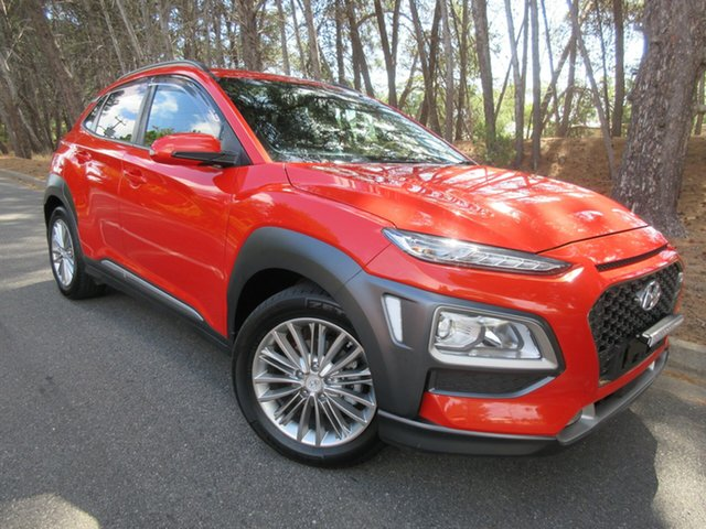 Used Hyundai Kona OS MY18 Elite 2WD Reynella, 2017 Hyundai Kona OS MY18 Elite 2WD Tangerine Comet & Black Roof 6 Speed Sports Automatic Wagon