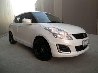 2014 Suzuki Swift FZ MY14 GL Pearlescent White 4 Speed Automatic Hatchback.