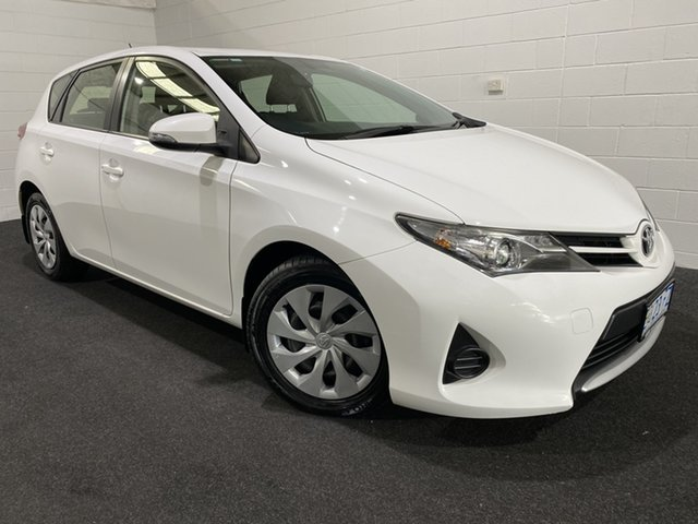 Used Toyota Corolla ZRE182R Ascent S-CVT Glenorchy, 2014 Toyota Corolla ZRE182R Ascent S-CVT White 7 Speed Constant Variable Hatchback