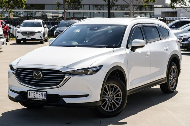 Used Mazda CX-8 KG2W2A Sport SKYACTIV-Drive FWD Narre Warren, 2018 Mazda CX-8 KG2W2A Sport SKYACTIV-Drive FWD White 6 Speed Sports Automatic Wagon